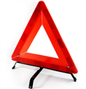 Triangle reflective safety sign for cars