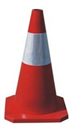 70cm Rubber traffic cone with square base