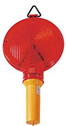 Red traffic cone light with double batteries