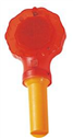 Red warning traffic lamp , traffic cone light