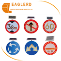 Circle type solar traffic road signs