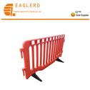 Plastic temporary guardrail road barrier