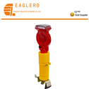 Solar traffic cone warning light
