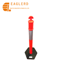 Plastic and Rubber Base Reflective T-Top Warning Post