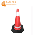 70cm Reflective Flexible EVA Traffic Cone with Black Base
