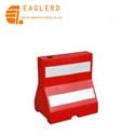 Roadway safety plastic water filled barrier