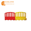 PE yellow red water filled barrier plastic traffic barrier