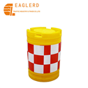 Roadway safety water filled plastic traffic barrier