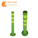 Fluorescence Green warning post lane divider