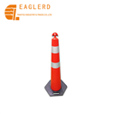Traffic Cone Type T-Top PE Bollard Reflective Warning Post