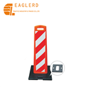 PE flexible reflective traffic warning board plate with heavy base
