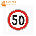 Speed limit round aluminum traffic sign with reflective sheeting