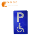 Rectangle Parking aluminum traffic sign for the disabled