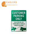 Customer parking Reflective Aluminum traffic Road Warning Sign