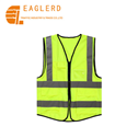 Traffic safety yellow green reflective vest with pockets