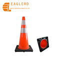 Reflective Soft PVC Traffic Cone for traffic safety