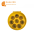 Solar sunflower round traffic warning light for road safety